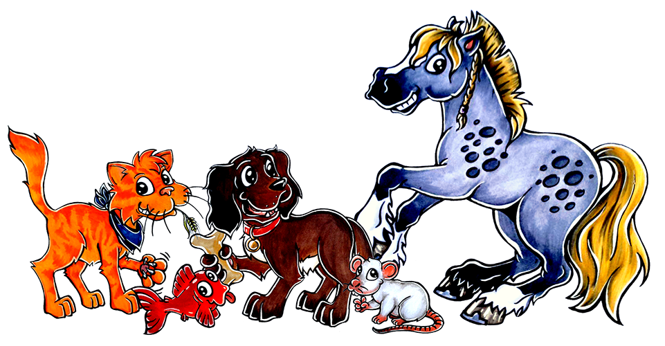Haustier Comic Cartoons Hunde katzen pferde Pets Animals Cats Dogs Horses Hamsters Rabits Cat Dog Horse Pet Animal Animalcomic